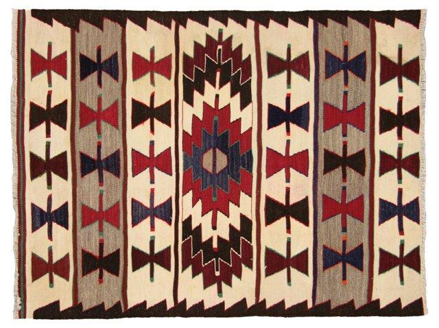 """Anatolian Turkish Kilim, 3'10"""" x 3'"""