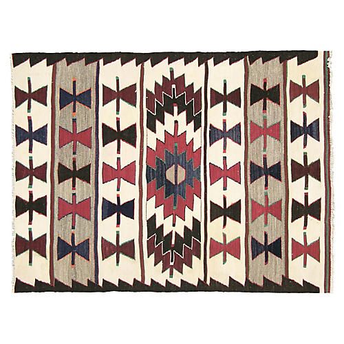 "Anatolian Turkish Kilim, 3'10"" x 3'"