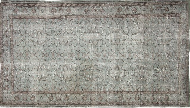 "Overdyed Turkish Rug, 9'4"" x 5'4"""