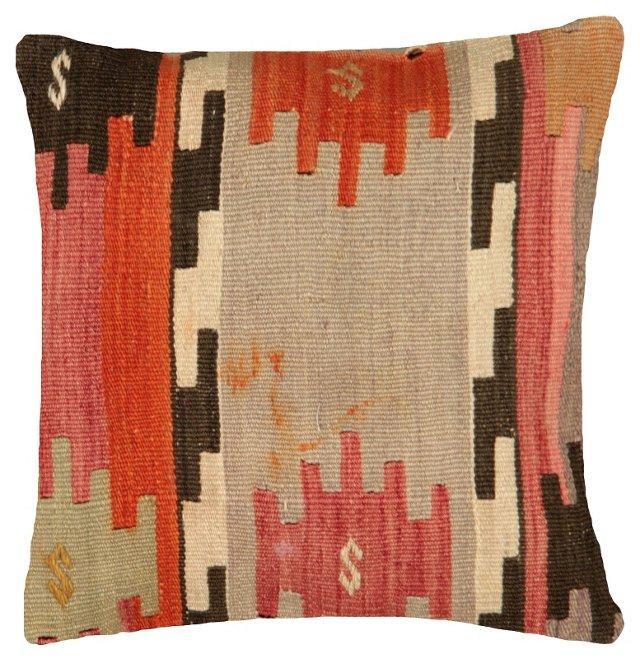 Rust & Taupe Turkish Kilim Pillow