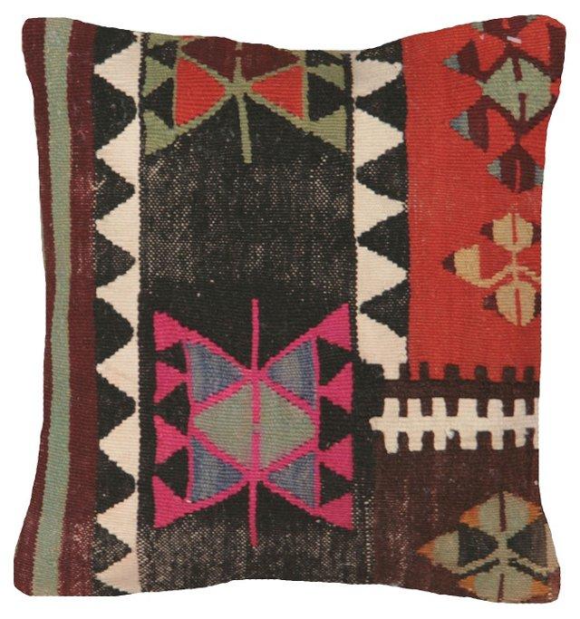 Turkish Kilim Pillow w/ Zigzag
