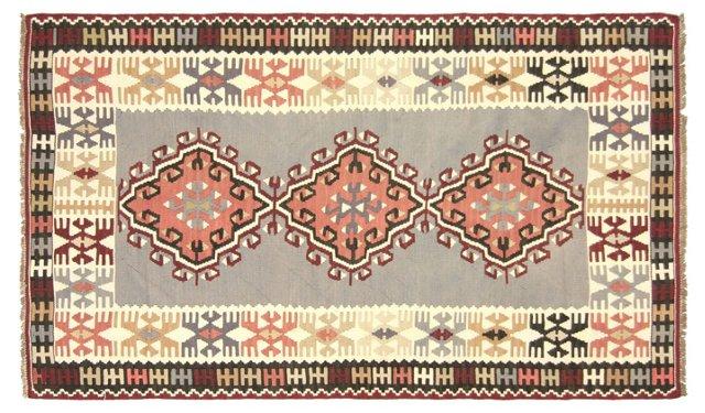 """Anatolian Kilim, 6' x 3'3"""""""