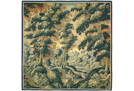 18th-C. Flemish Tapestry