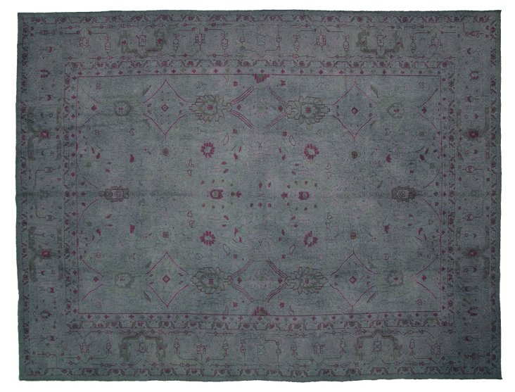 "Overdyed Turkish Rug, 11'9"" x 7'10"""