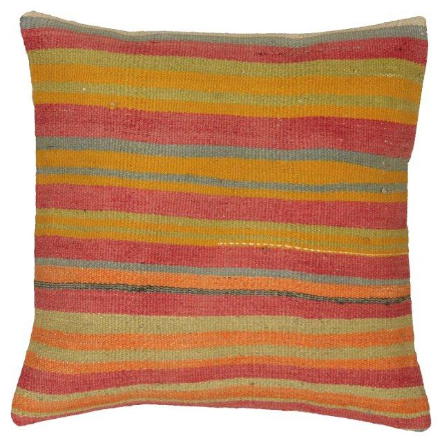 Striped Sunrise Kilim Pillow