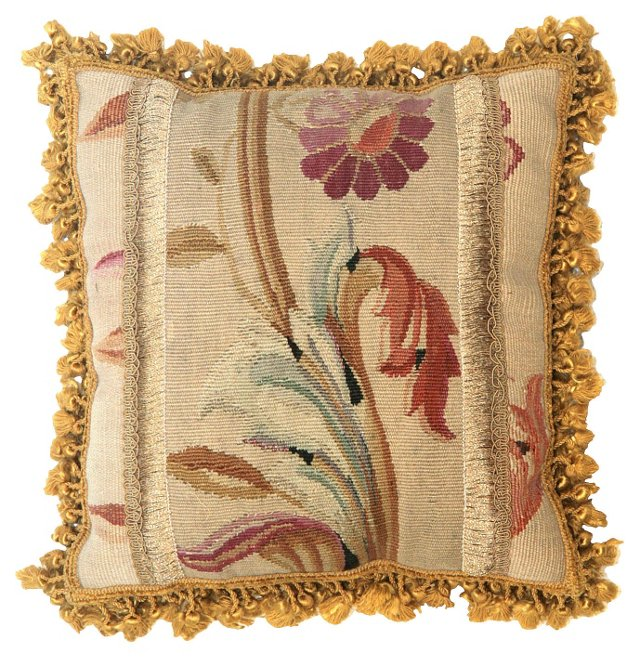 Pillow  w/  Victorian   Aubusson
