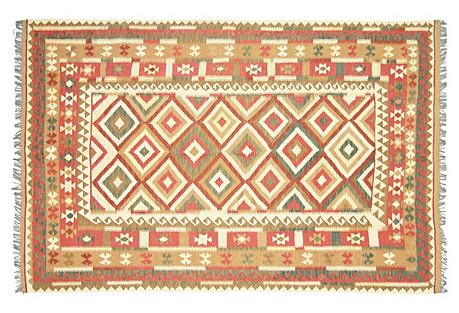 Afghan Kilim, 6'3