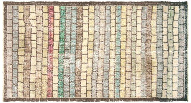 """Art Deco Turkish Rug, 3'  x 5'8"""""""