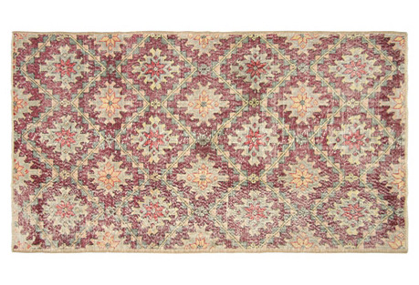 Art Deco Turkish Rug, 4' x  7'3