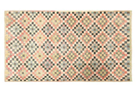 Art  Deco Turkish Rug, 3'10