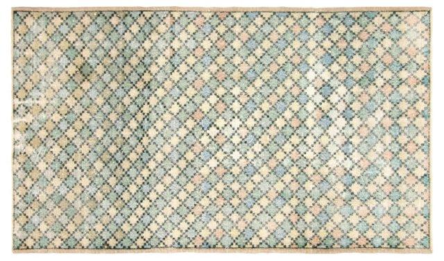 """Art Deco Turkish Rug, 4'2"""" x   7'1"""""""