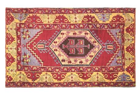 Anatolian Oushak Rug, 3'2