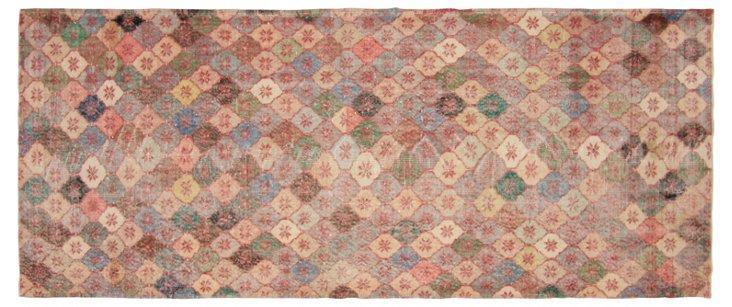 """Art Deco Turkish Rug, 4' x 9'4"""""""