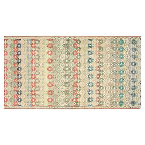 """Art Deco Turkish Rug, 5'9"""" x 11'"""