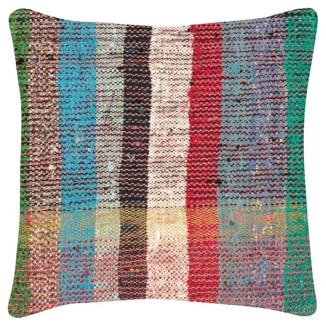 Multicolor    Adana Rag  Rug   Pillow
