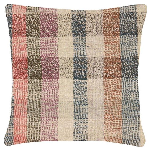 Striped    Turkish Rag Rug Pillow