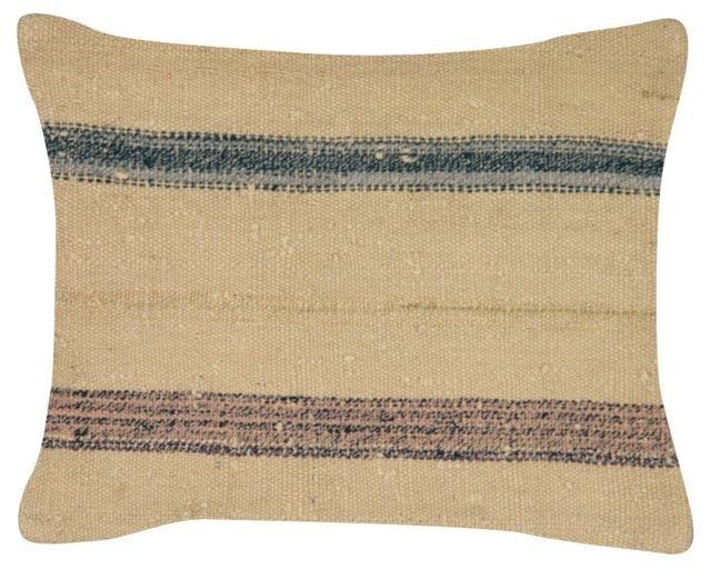 Beige    Turkish Rag Rug    Pillow