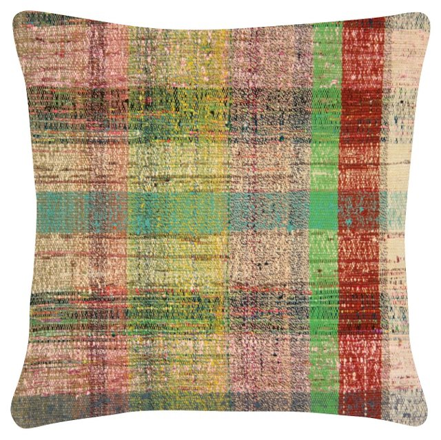 Striped   Turkish Rag     Rug Pillow