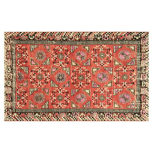 """1920s Samarkand Khotan Rug, 3'7"""" x 6'1"""""""
