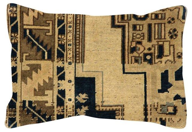 Ivory   Oushak Rug Fragment Pillow