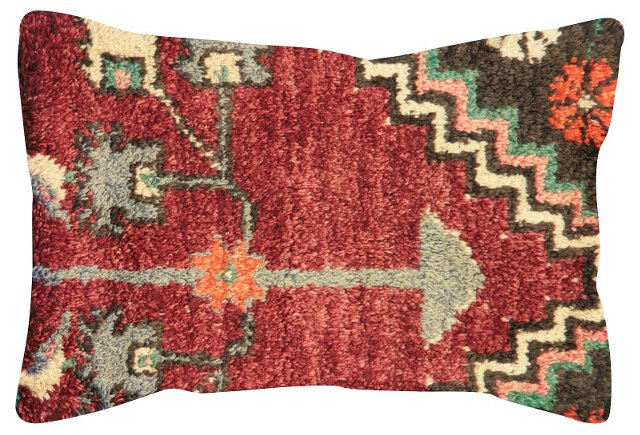 Red  Oushak    Fragment Pillow