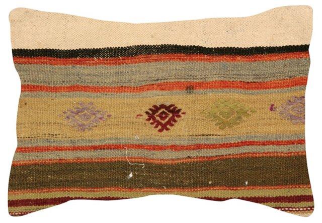 Multicolor  Stripe   Kilim Pillow