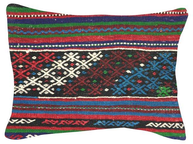 Multicolor Bright Turkish Kilim Pillow