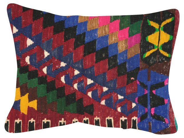 Geometric    Multicolor   Kilim Pillow