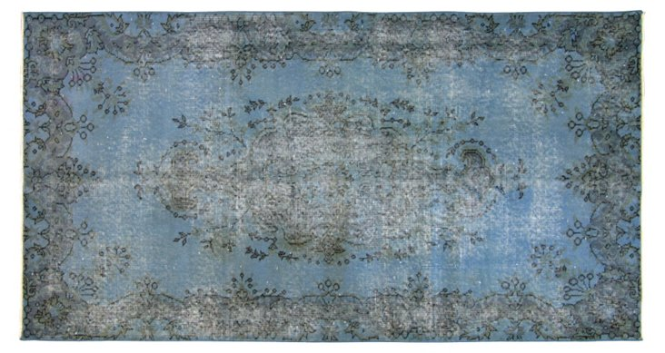 "Turkish Overdyed Rug, 3'8"" x 6'10"""
