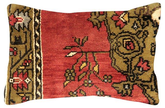 Red Oushak                 Rug Pillow