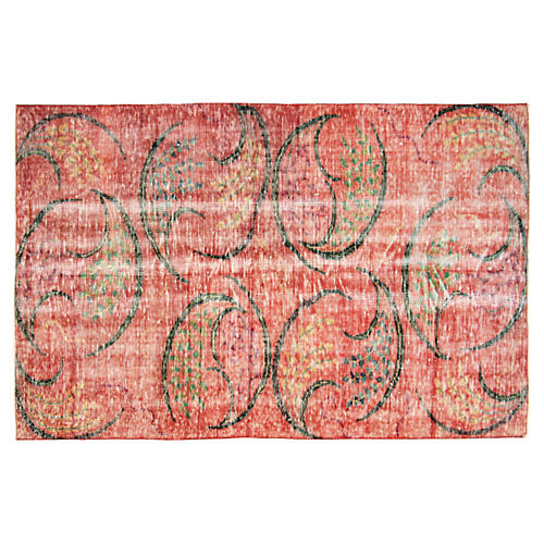 "1960s Turkish Zeki Müren Rug, 4'9""x7'2"""