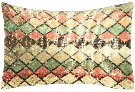 Turkish Art Deco-Style Fragment  Pillow