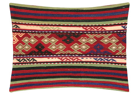Turkish Kilim Pillow, Red