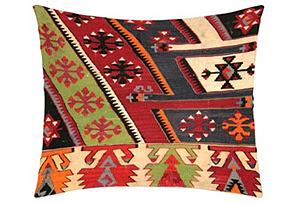 Turkish Kilim Pillow, Red/Multi*