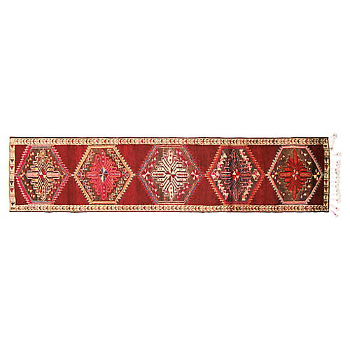 "1960s Turkish Oushak Runner, 2'11""x12'5"""