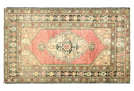 Anatolian Oushak Rug, 4' x 6'8