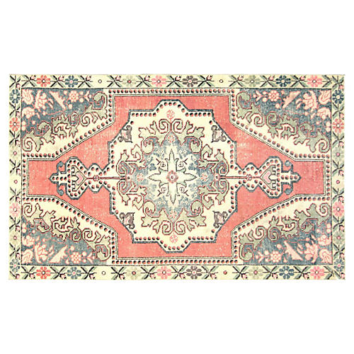 "1960s Turkish Oushak Rug, 4'2"" x 6'11"""