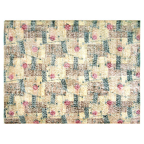 "1950s Turkish Zeki Müren Rug, 4'11""x6'5"""