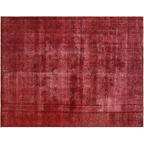"Persian Overdyed Carpet, 9'10"" x 13'2"""