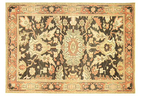 Sultanabad-Style Rug, 4'5