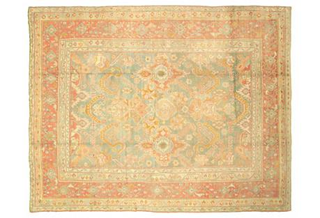 Antique Oushak Carpet, 10'6