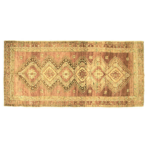 "1960s Turkish Oushak Runner, 5'8"" x12'6"""