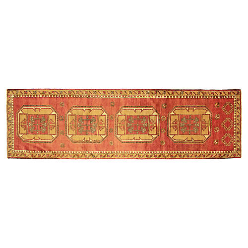 "1960s Turkish Oushak Runner, 3'3""x10'11"""