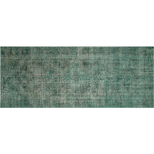 "Turkish Overdyed Rug, 4'9"" x 13'2"""