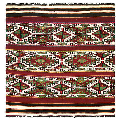 """1950s Anatolian Kilim, 3' x 3'2"""""""