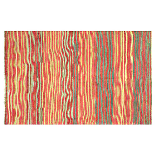 "Turkish Striped Kilim, 4'10"" x 7'8"""