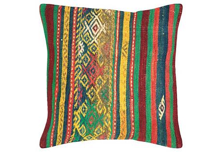 Turkish Kilim Pillow, 1'8
