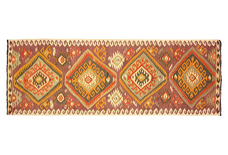 Turkish Kilim Runner, 3'4