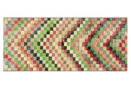 Anatolian Deco-Style Rug, 1'9
