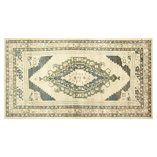 "1950s Turkish Oushak Rug, 4'8"" x 9'"